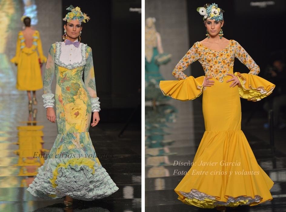 Javier Garcia Simof 2015 trajes de flamenca amarillos