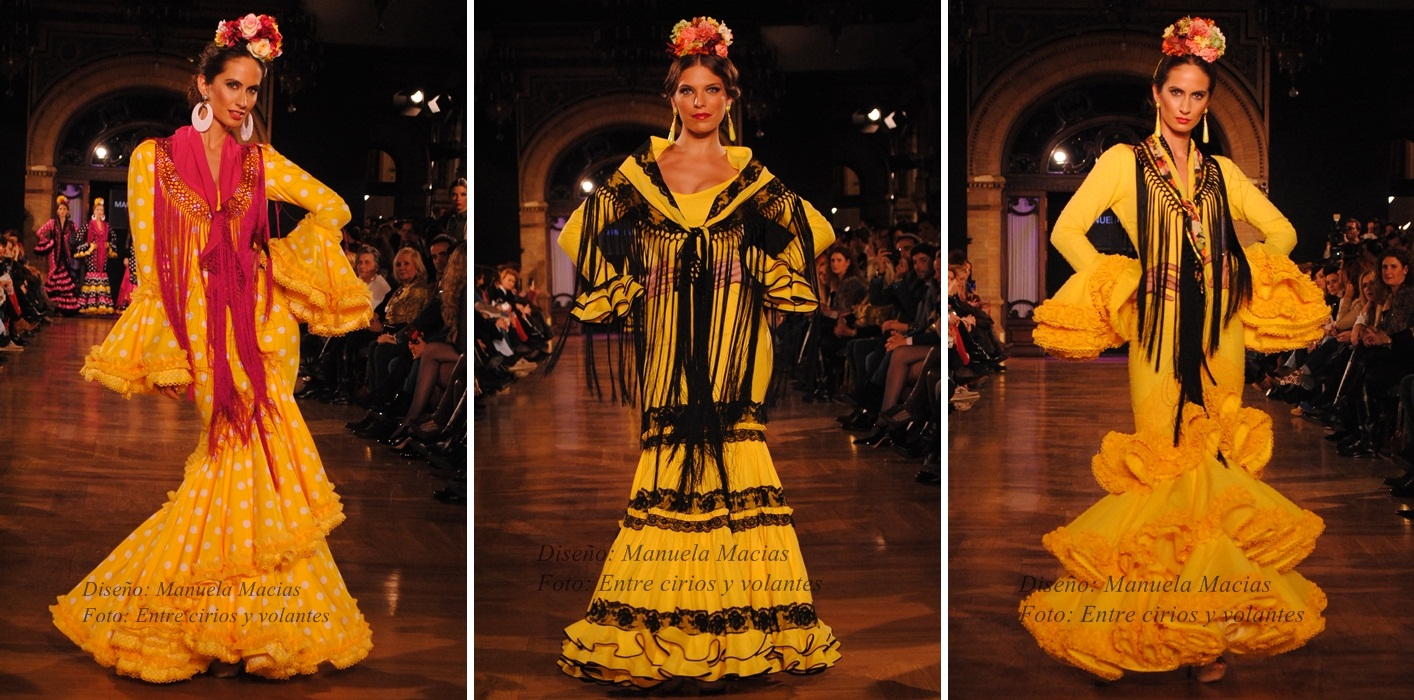 Manuela Macias trajes de flamenca amarillos we love flamenco 2015