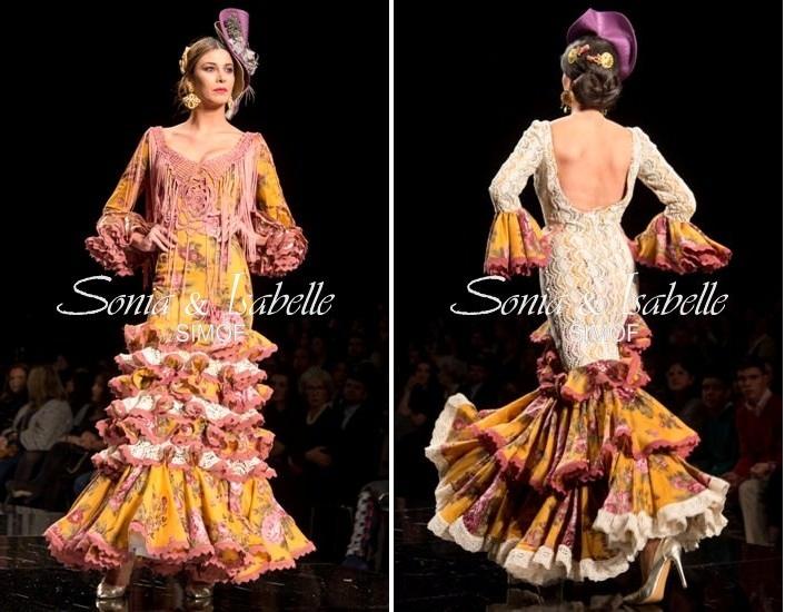 Sonia e Isabelle Sonibel Trajes de flamenca amarillos 2