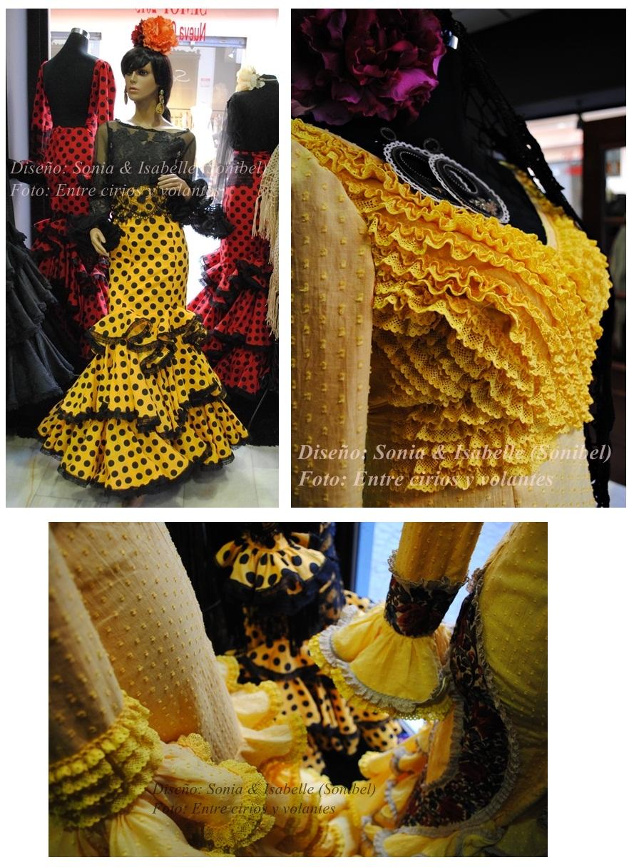 Sonia e Isabelle Sonibel Trajes de flamenca amarillos