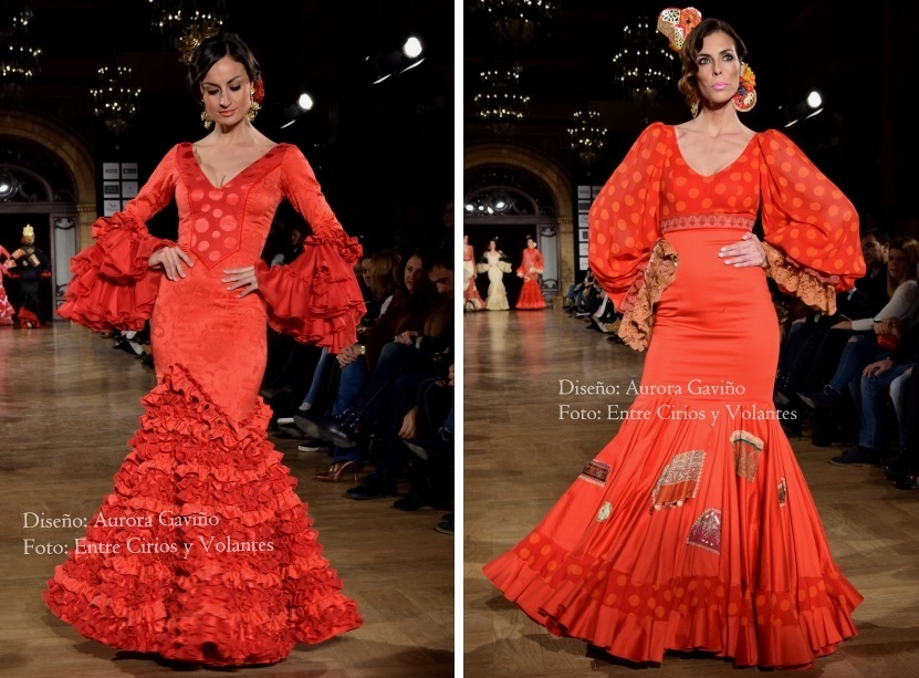 trajes de flamenca rojos aurora gaviño