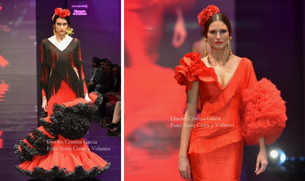 trajes de flamenca rojos cristina garcia