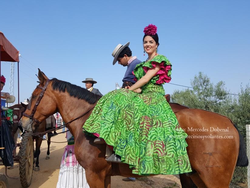 romeria del rocio 2016 traje de flamenca de mercedes dobenal