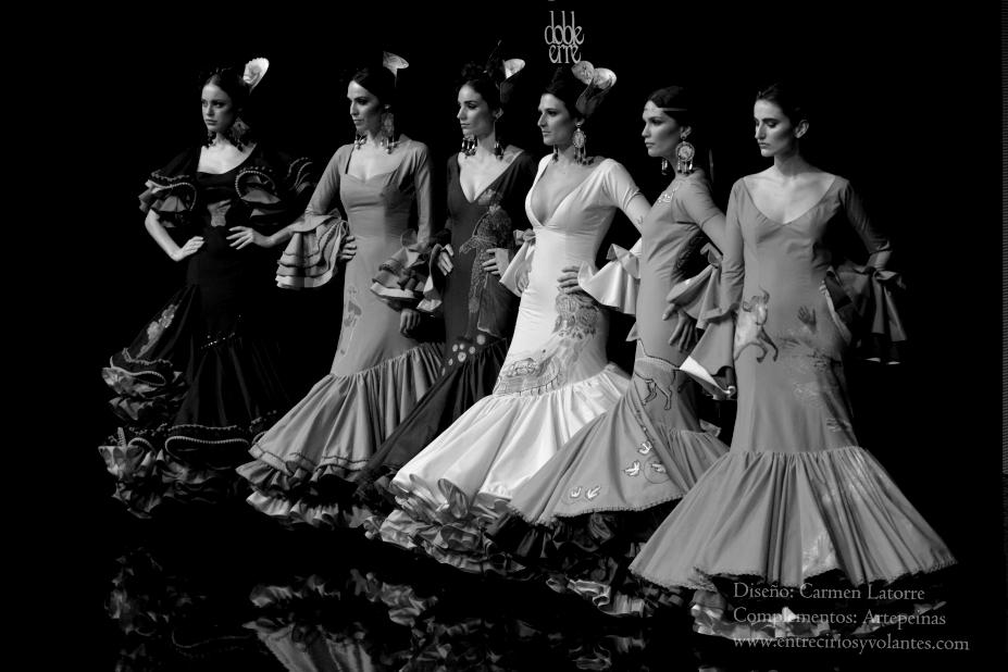 trajes de flamenca simof 2014 entre cirios y volantes (14)